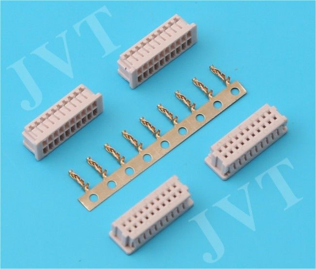 Dual Row  pcb Wire to Board Connector with 20 - 40 Poles 3A AC/DC Rating Current