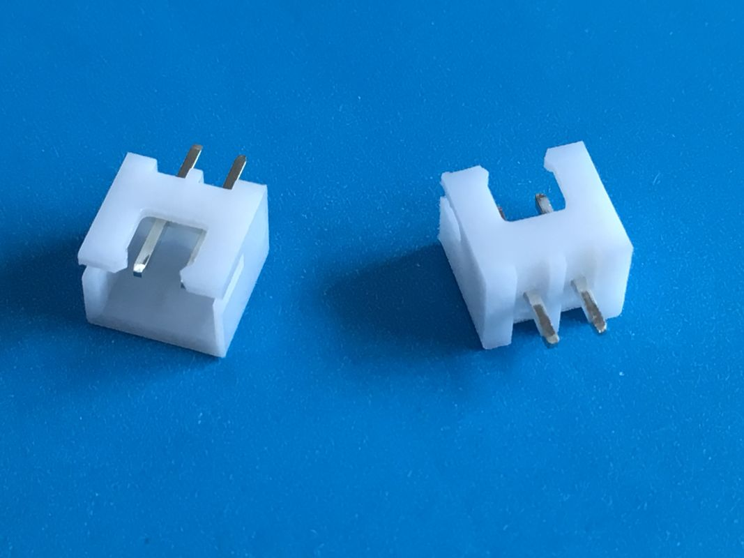 JVT 2.5mm Pitch Wafer for PCB Board Electrical Connectors With Two Pins in White Color