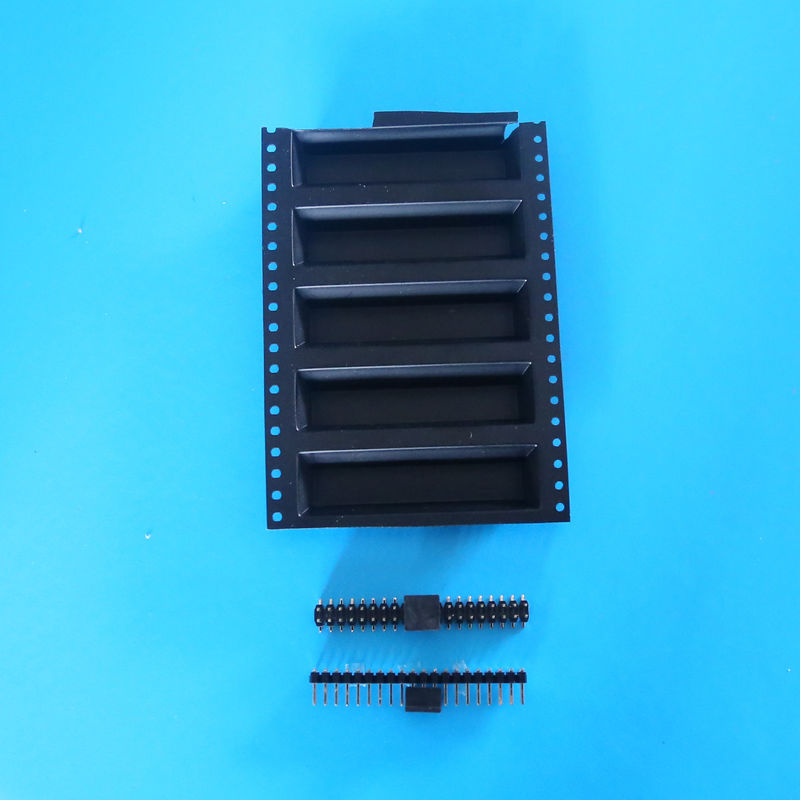 Double Row 4 - 60 Pins 10 Pin Header SMT Female Pin Headers With Cap LCP Plastic