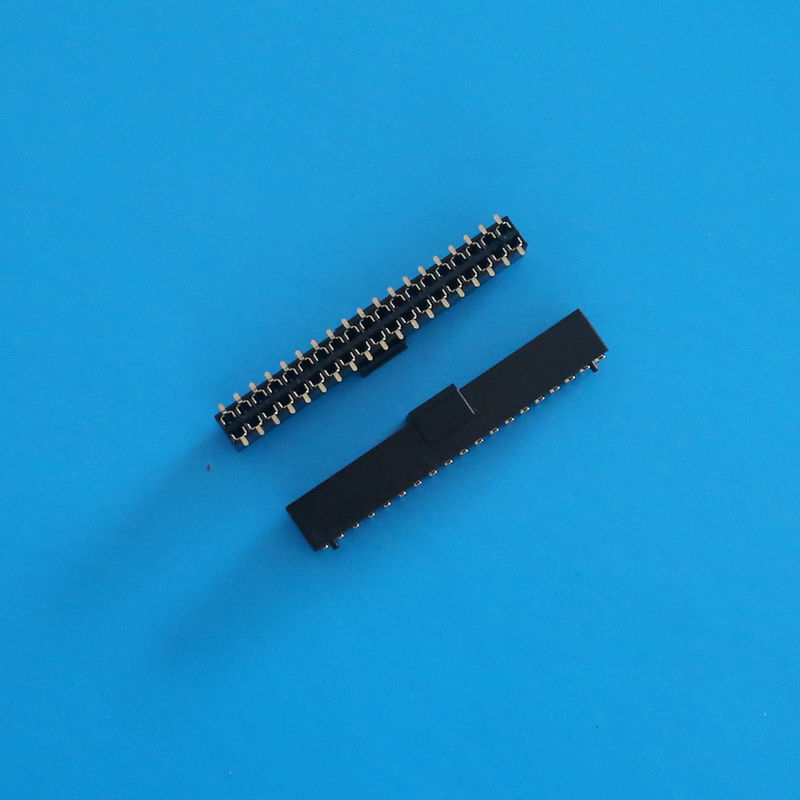 Right Angle Female Header Connector , Double Type 2.0mm Pitch Female Pin Connector