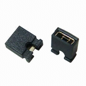 Tin Plated Brass Mini Jumper Connector , 2.54mm Pitch Open / Close Type Mini Pin Connector