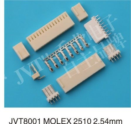 Molex 2510 Female Wire To Board Connector 2.54mm Pitch For PCB 20MΩ Max
