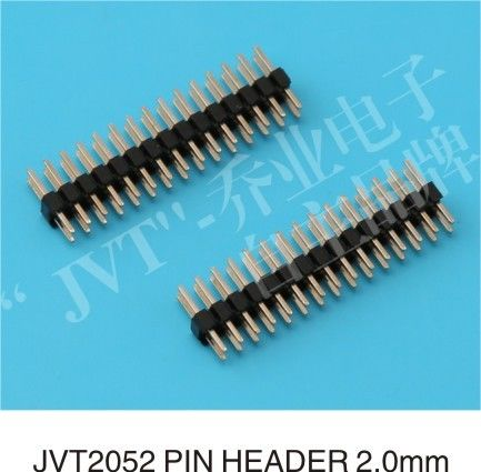 2.0mm pitch dual row V/T type pin header connector with UL  certificated