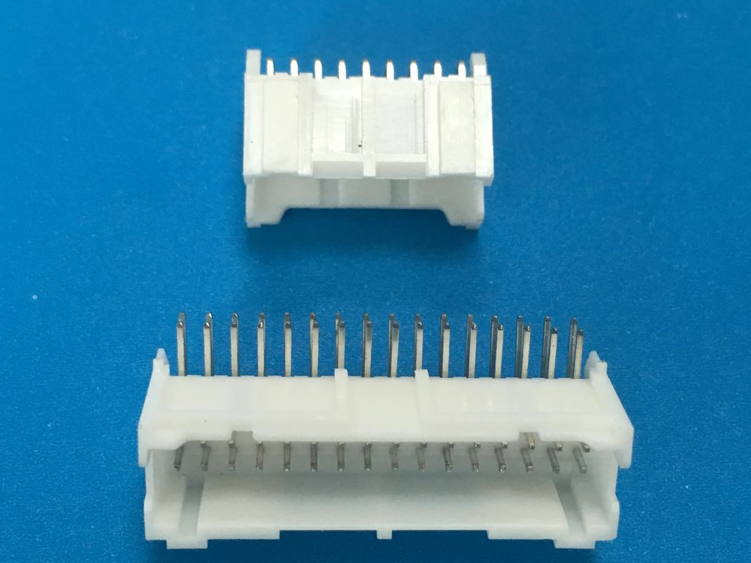 2.0 Mm Straight Pcb Header Connector For Nylon 66 UL94V-0 Dual Row Through Hole