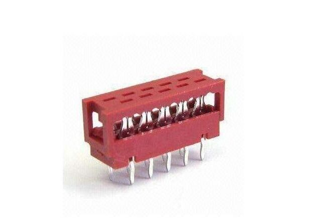 PCB Connector 1.27 Micro Match Dip Plug IDC 4 - 20 Pin Tin Plated IDC Type Connector