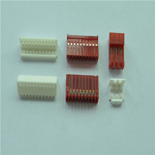 Equivalent Of AMP IDC Connector Red / White 2.54mm IDC Individual Wire With Polarized