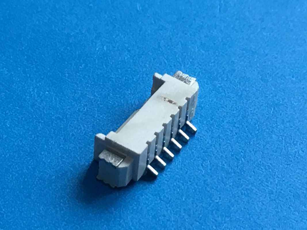Tin Plated PCB SMT Right Angle Type Header Connector 1.25mm Pitch PA66 Housing