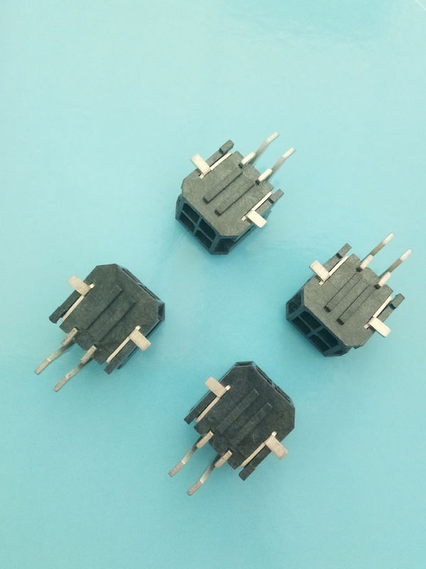 3.0mm Pitch Auto Electrical Connectors Vertical SMT Wafer Connector Black Color
