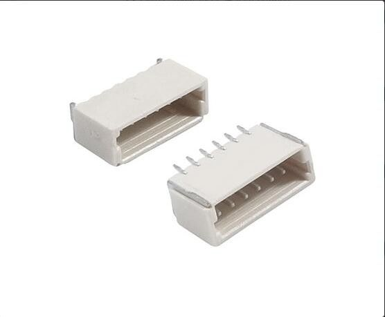 SH Male Connector 6 Pin Pitch 1.0mm , 0.5A  50V Horizontal With Material LCP, UL94V-0