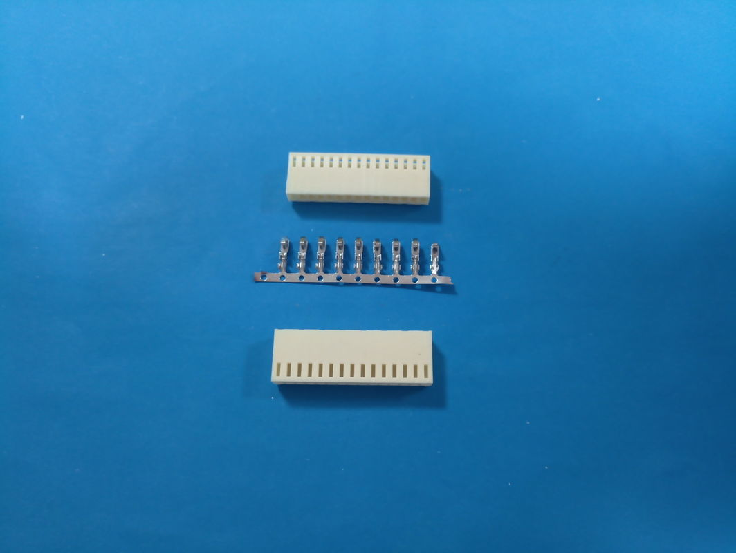2-16 Pin Pcb Cable Connectors Wire To Board Housing / Terminal Yellow Color