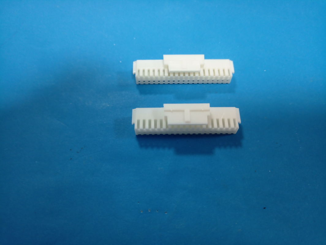White Color Housing Printed Circuit Board PCB Board Connector PA66 Material Double Row