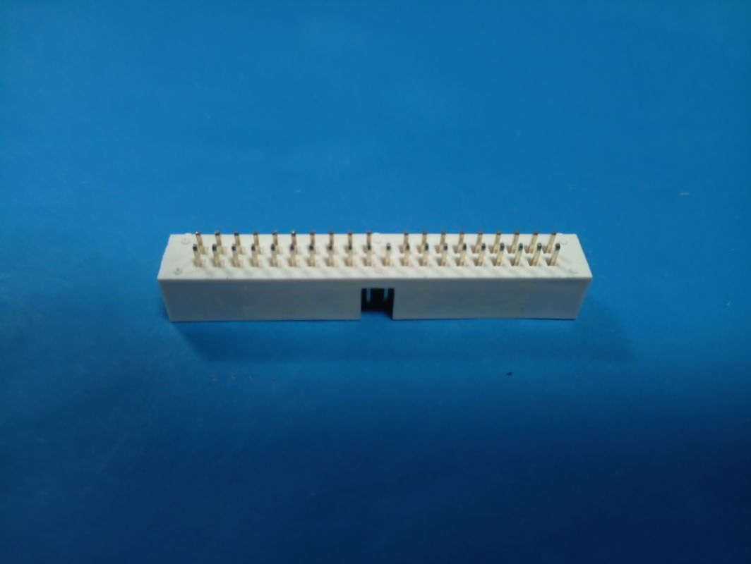 2.54mm Pitch Pin Header Connector box header H: 9.0mm  DIP,Color White