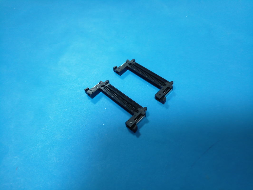 Black Color FI - RE PCB Board Connector PA66 UL94V - O Material 1.0mm Pitch