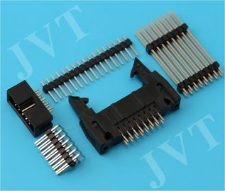 China Dual Row 2.54mm Pitch Pin Header Connector with SMT 2 - 50 Poles PA6T Housing 22 - 28 AWG distributor