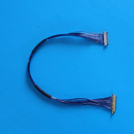 China 9.7cm LCD LVDS Blue Micro Coaxial Cable with 1000MΩ Min Insulation 20MΩ Max Contact Resistance distributor