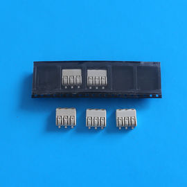 China Brown 3 Pin Triple Pole SMD LED Connectors 4.0mm Pitch with PA66 UL94V-0 Housing distributor