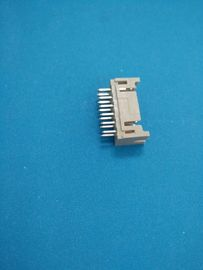 China Dual Row PCB Shrouded Header Connectors Straight - Angle Wafer DIP 180 2 X 3 Poles distributor